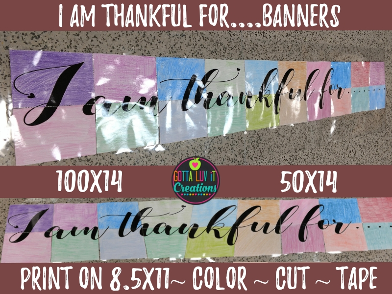 Free Download - I am thankful for student collaborative banners