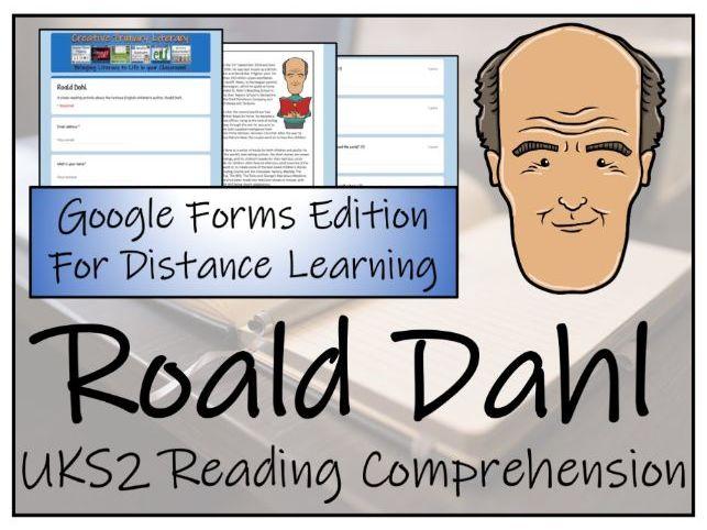 UKS2 Roald Dahl Reading Comprehension & Distance Learning Activity