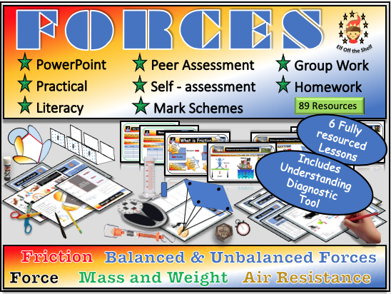 Forces Module Plus Diagnostic Tool for Checking Understanding KS3