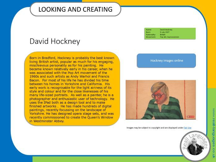 David Hockney: Looking and Creating:  activities inspired by artists.