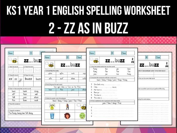 Spelling & Phonics Worksheet - z sound spelled ZZ