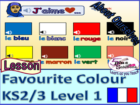 PRIMARY FRENCH LESSON (KS2/3): Colours, saying what colour you like and colours song.