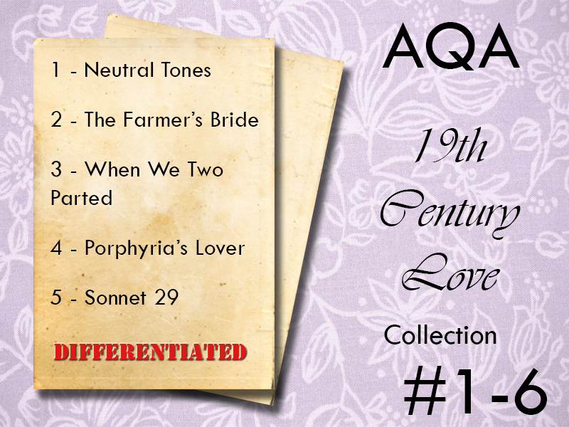 AQA Poetry Differentiated - 19th Century (Love and Relationships)