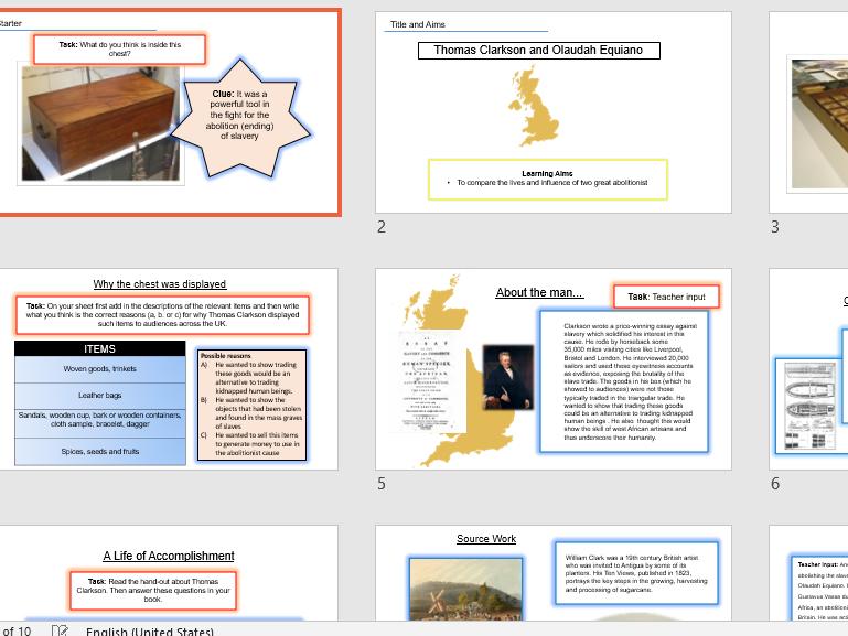 Thomas Clarkson and Olaudah Equiano - Key Stage 3 History - Transatlantic Slave Trade