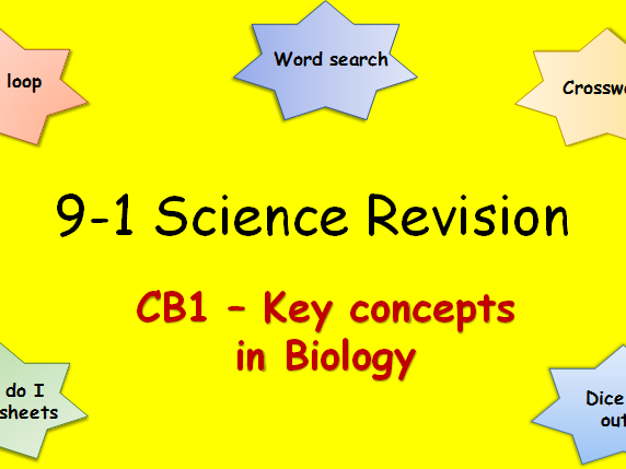 Edexcel CB1 Key concepts in Biology Revision pack Science 9-1