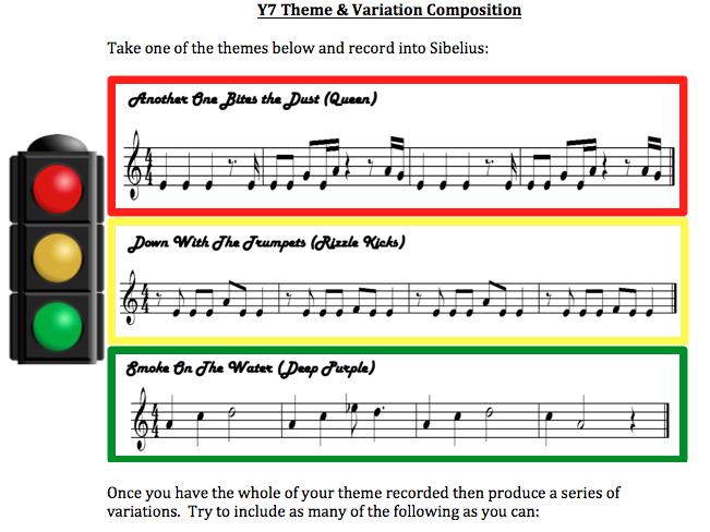 KS3 Theme & Variation Composition Task