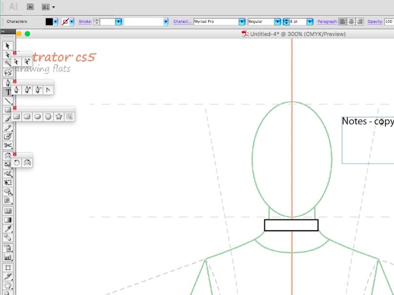 How to draw fashion flats - Shirt body (1)