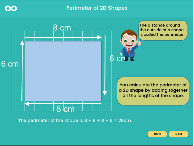 Perimeter of 2D Shapes - Year 3, Key stage 2