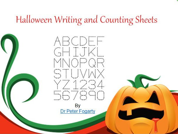 Halloween Writing and Counting Sheets - PowerPoint + 31 Ways To Use Them In The Classroom