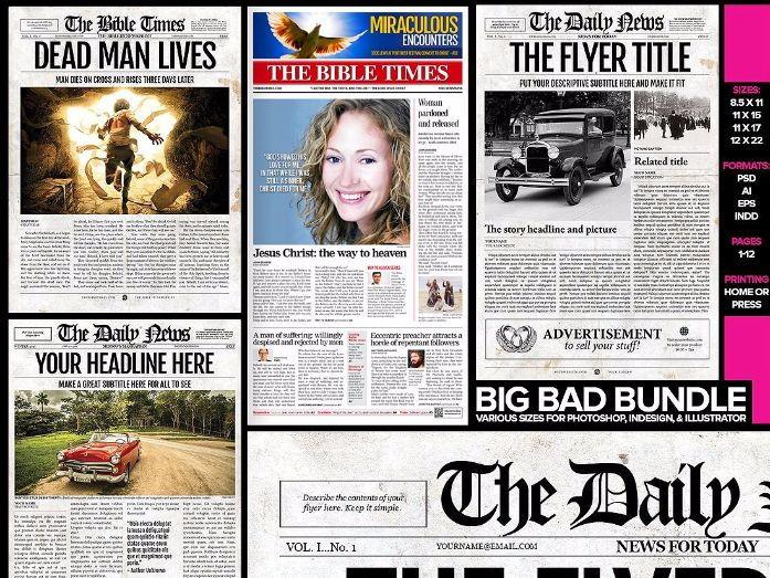 5 Newspaper Templates Bundle