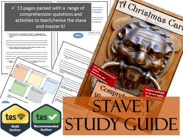 A Christmas Carol Comprehension and Revision Guide Stave 1 | Teaching Resources
