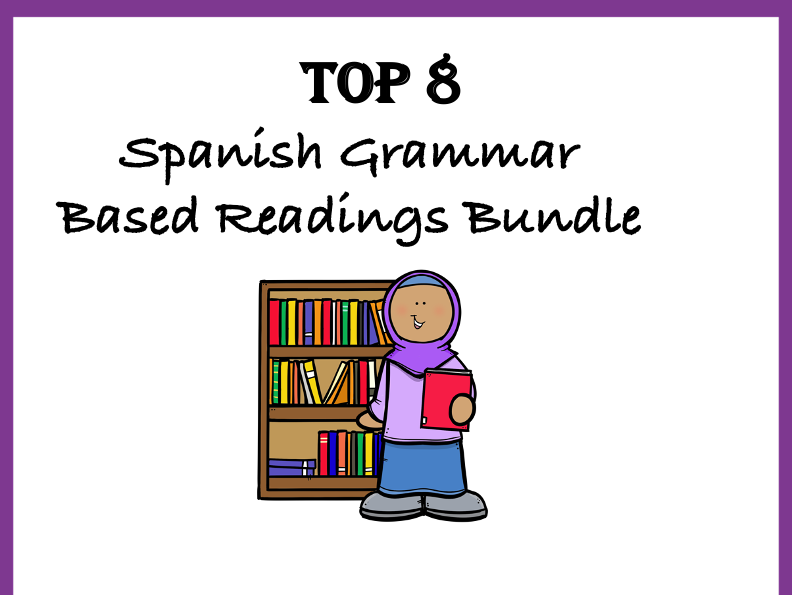 Spanish Top 8 Grammar Based Readings at 40% Off!