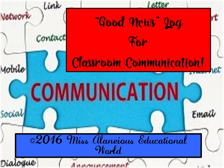 "Communication Log for ""Good News"""