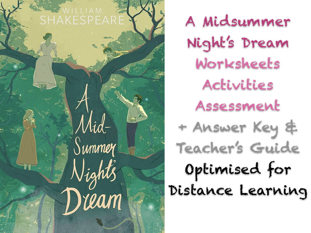 A Midsummer Night's Dream - Advanced Teaching + Drama + Literary Analysis BUNDLE
