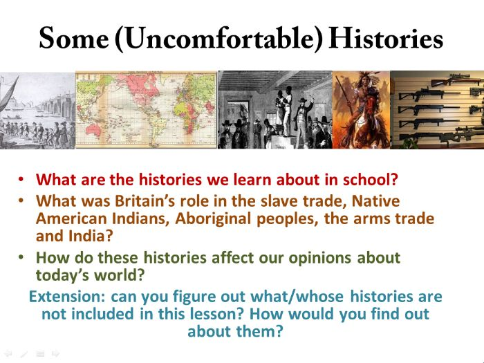 Lesson 2:  Uncomfortable Histories (Global Citizenship and Fundamental British Values)
