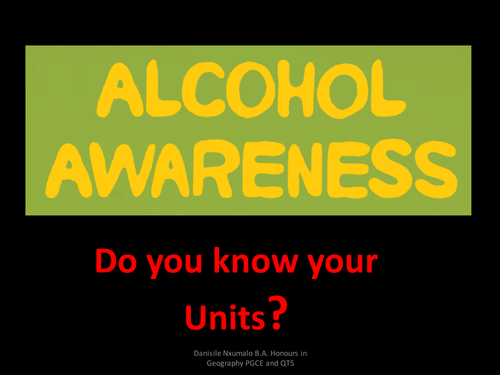 Do you Know Your Alcohol  Units?