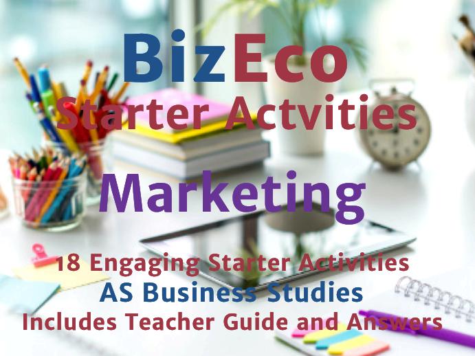 18 Engaging Marketing Activities - AS Business Studies