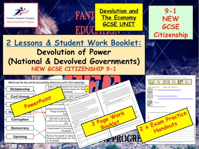NEW GCSE Citizenship (9-1) National and Devolved Governments - Devolution of power