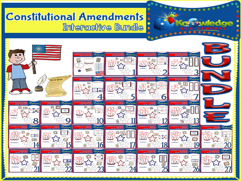 Constitutional Amendments Interactive Foldable Booklets BUNDLE