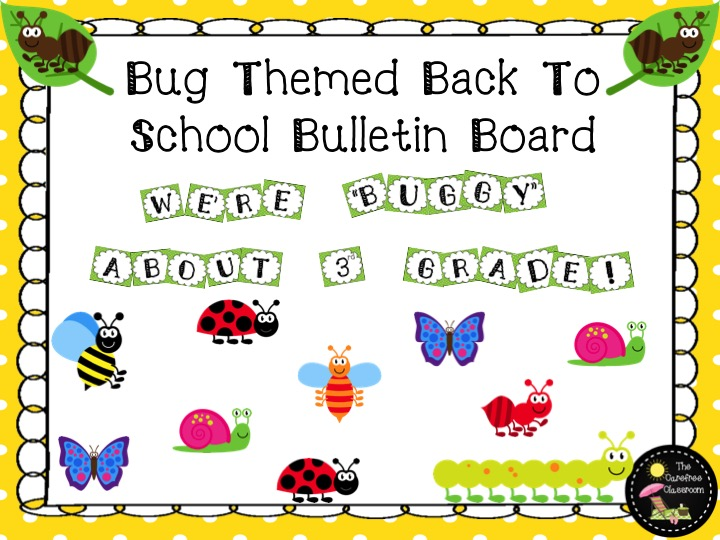Bulletin Board Set: Bug Theme Back To School Set