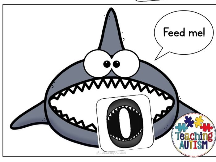 Shark Number Recognition Game, Shark Week