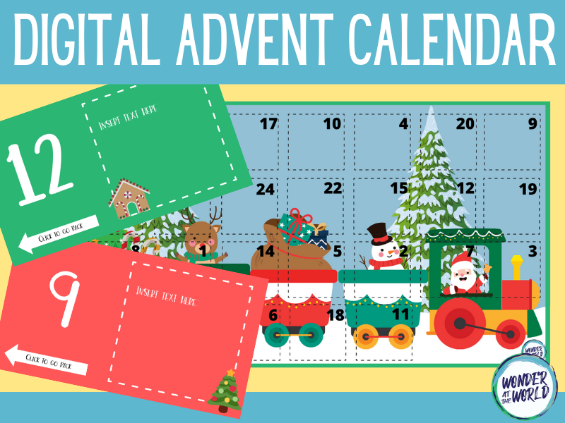 Christmas advent calendar for PowerPoint and Google Slides