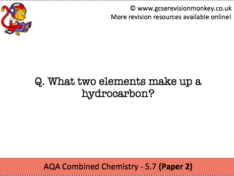 Revision Cards - AQA Combined Chemistry 5.7