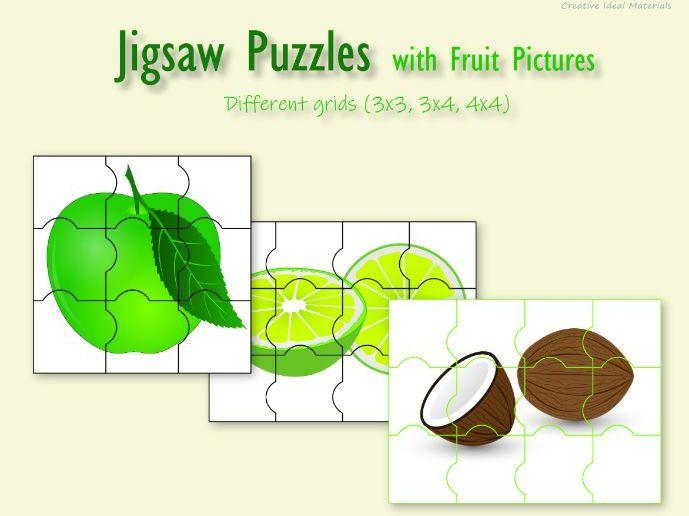 Jigsaw puzzles for kindergarten & 1st grade students