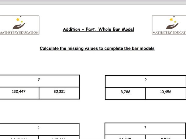 Addition and Subtraction Y6 - Bar Modelling