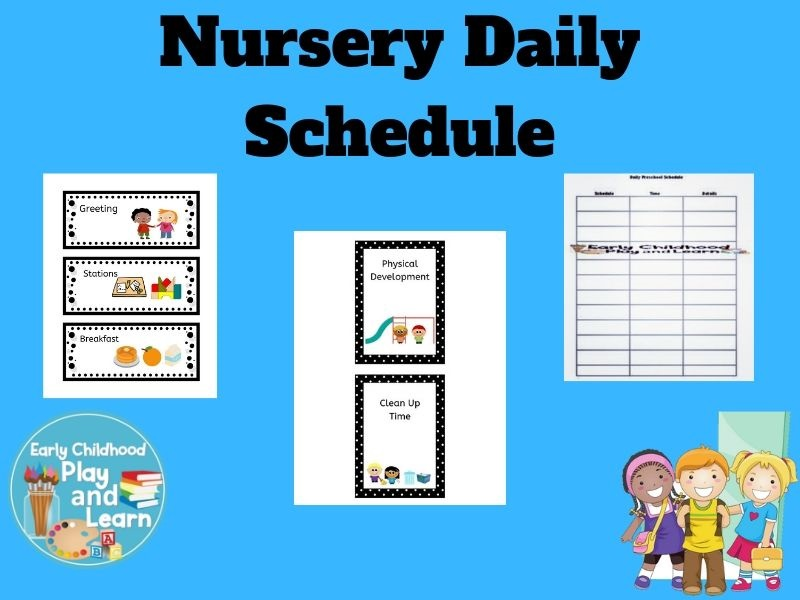 Back to School Nursery Picture Schedule UK Version