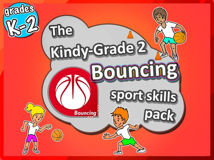 K-2 PE Sport - The Bouncing PE LESSONS Skill & Games Basketball pack
