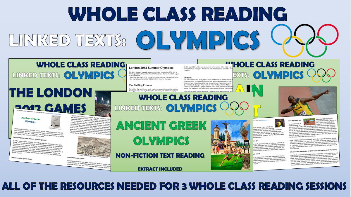 The Olympics - Whole Class Reading Bundle!