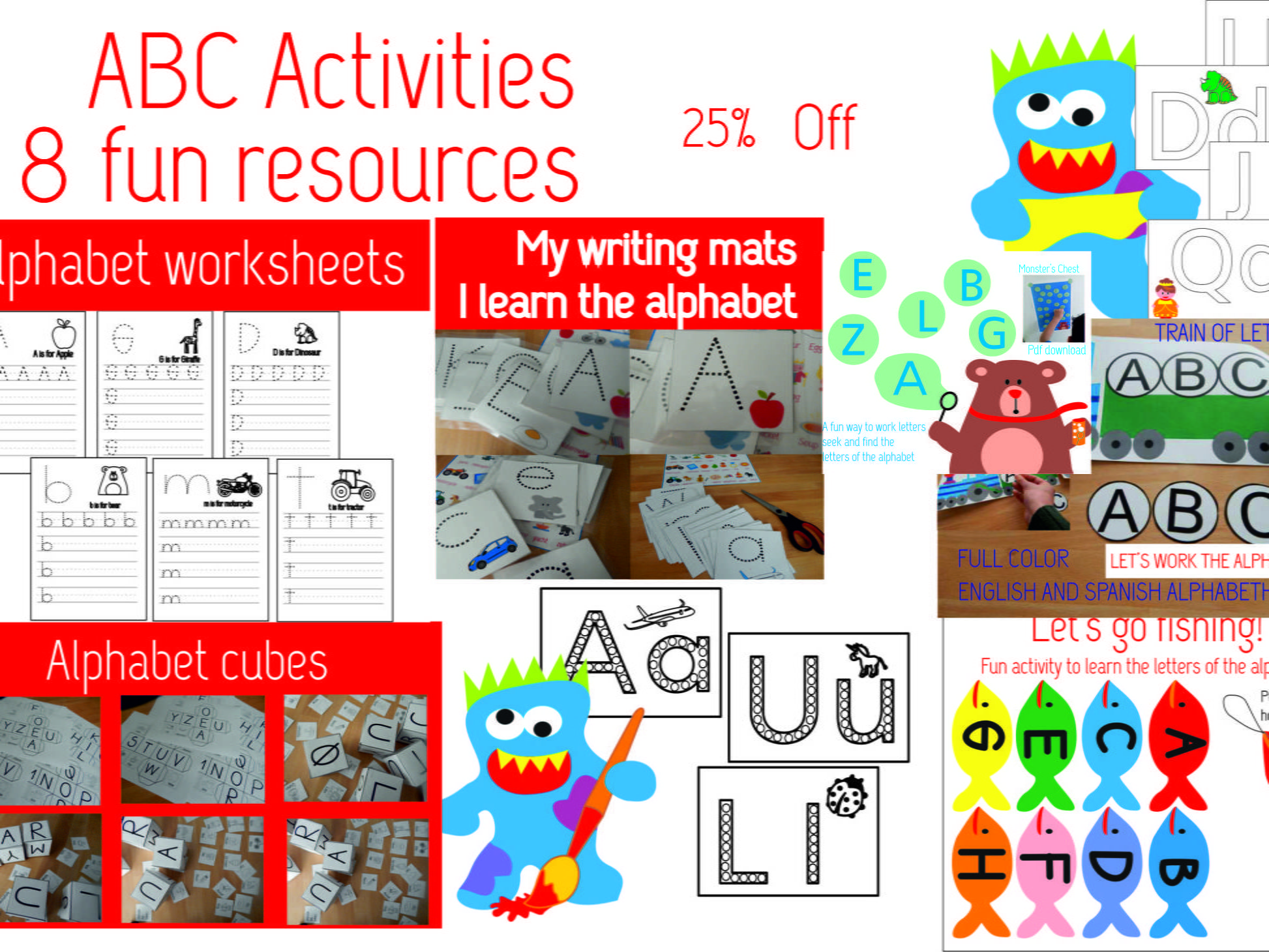 ABC activities, let's learn the alphabet