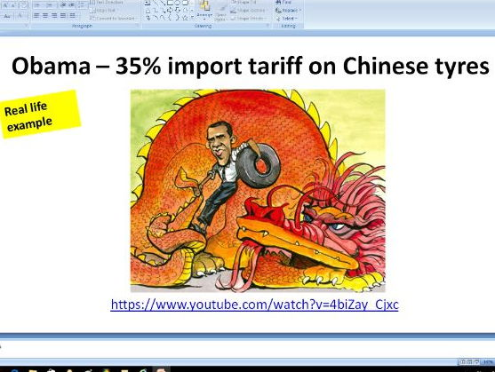 Protectionism - trade barriers - A level Business / Economics
