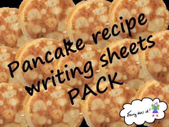 Pancake making - Recipe writing sheets PACK