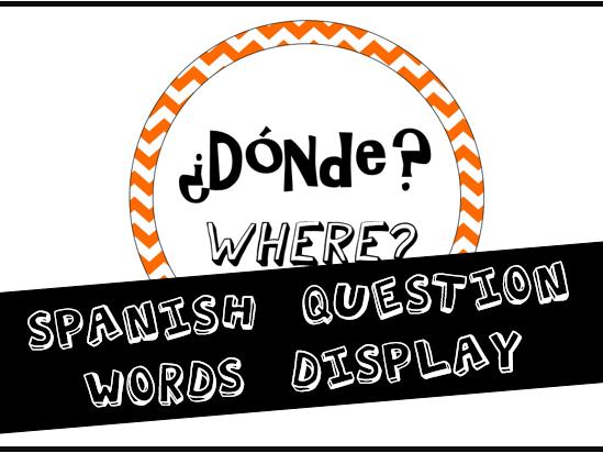Spanish Question Words Classroom Display