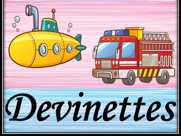 Transport riddles in French.  Le transport. Devinettes.