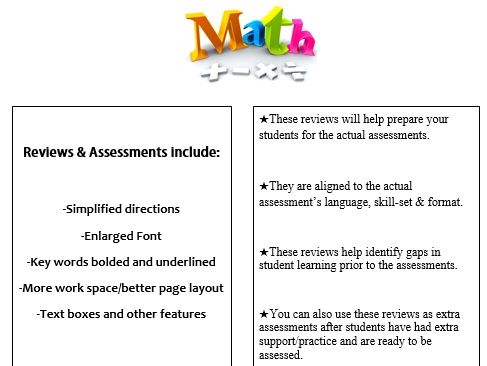 Grade 4, Math Module 5 REVIEW & ASSESSMENT w/Ans keys (printables & Smart Board)