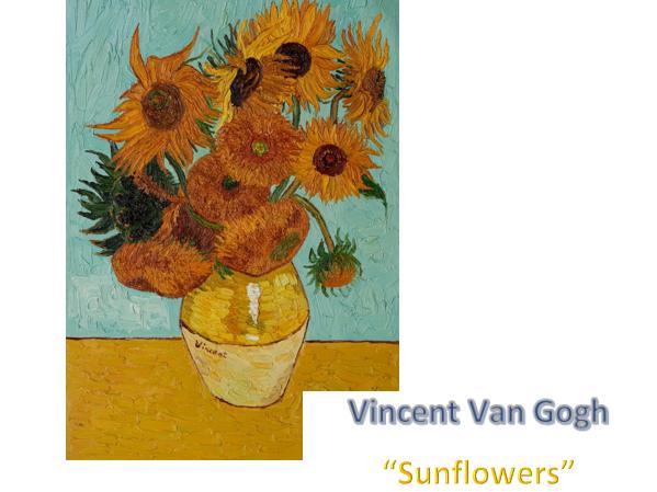 "Vincent Van Gogh Art ""Sunflowers"" Worksheet"