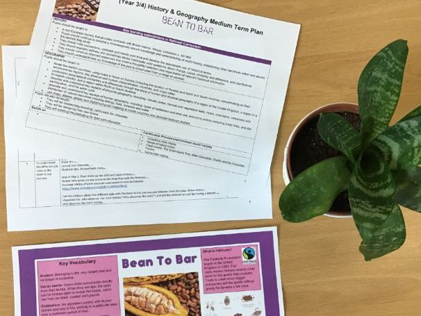 Bean to Bar Medium Term Plan and Knowledge Organiser