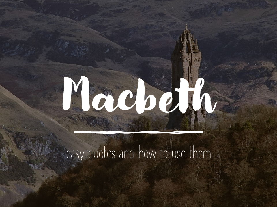 Macbeth  Quotes ppt quiz and worksheet