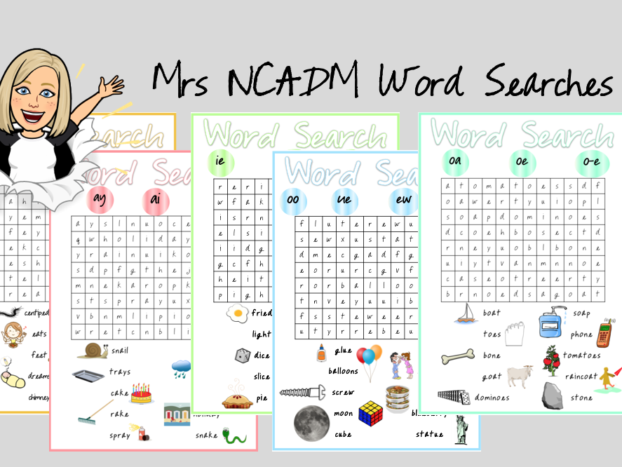 Long Vowel Phonics Word Searches