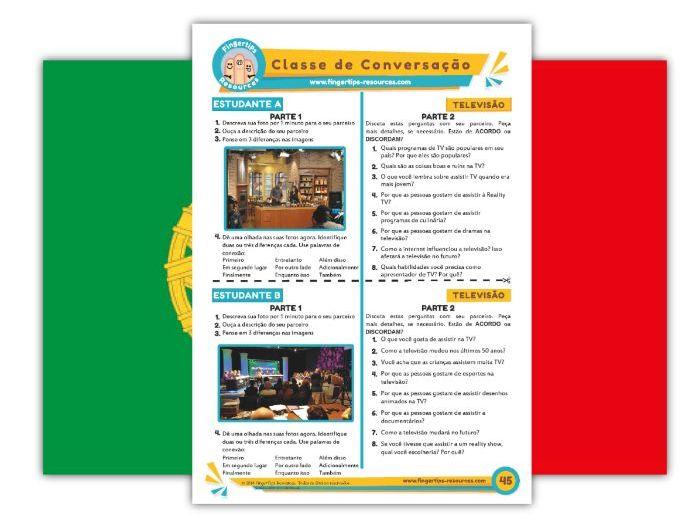 Televisão - Portuguese Speaking Activity