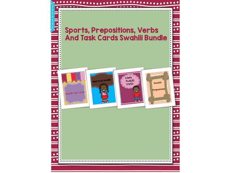 Sports,Verbs,Task Cards And Prepositions Bundle