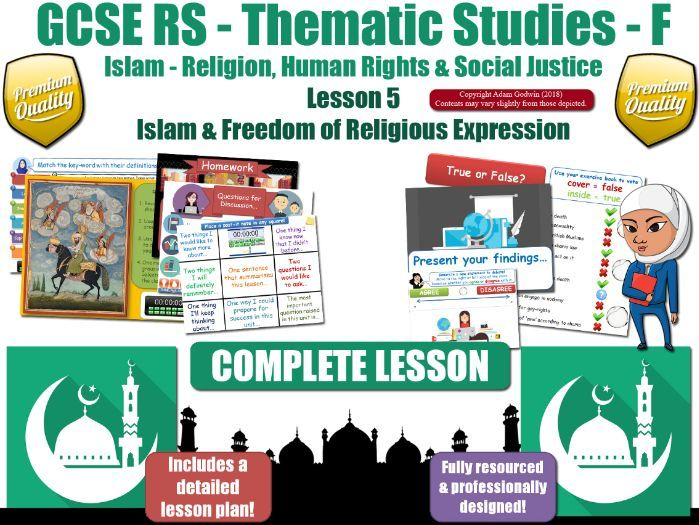 Freedom of Religion - Islamic Teachings & Muslim Views (GCSE RS - Islam - Social Justice) L5/7