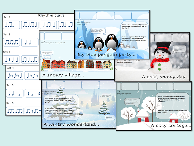 Christmas Rhythm Improvisation Composition Prompts
