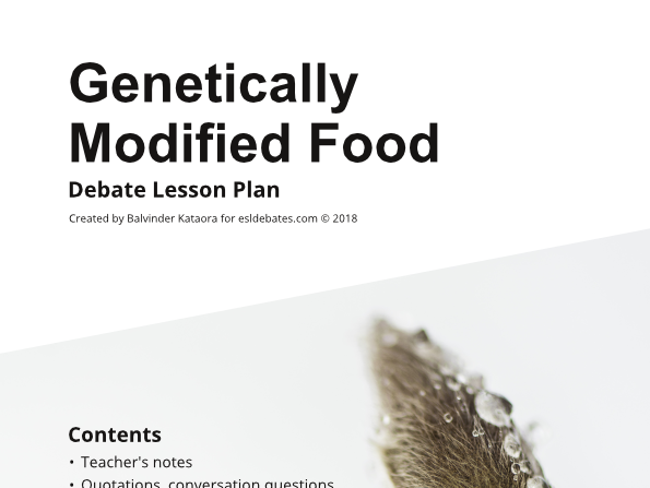 Genetically Modified Food - Complete Debate Pack