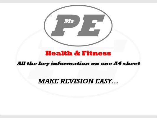 Health & Fitness KEY INFO SHEET
