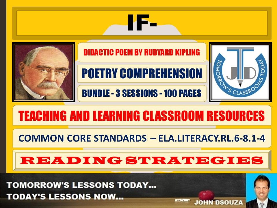 F- BY RUDYARD KIPLING - CLASSROOM RESOURCES - BUNDLE