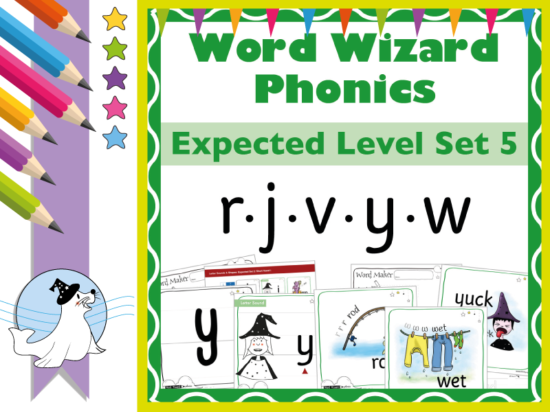 Word Wizard Phonics Expected Set 5: r.j.v.y.w